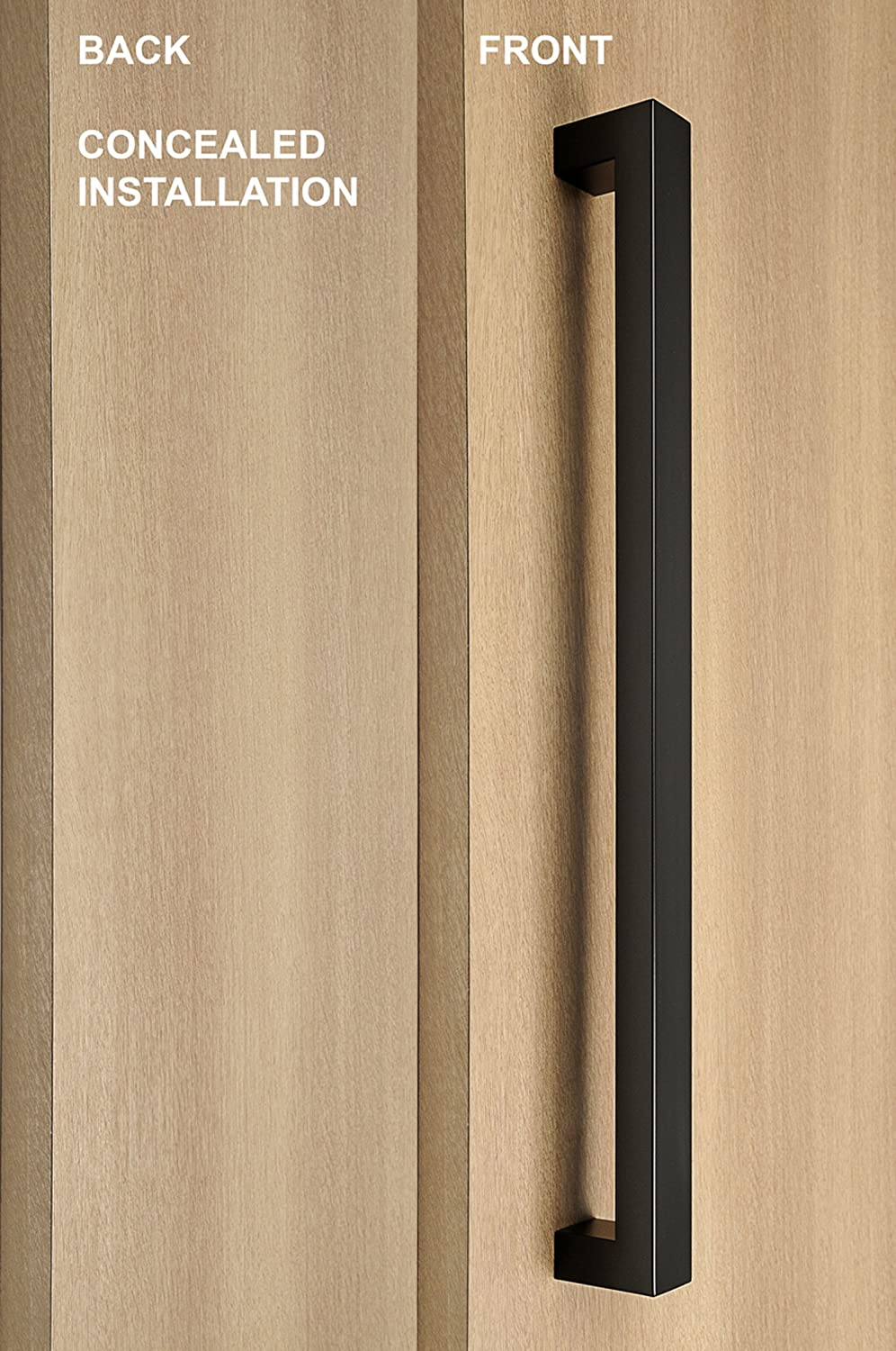strongar modern \u0026 contemporary square one single sided concealed