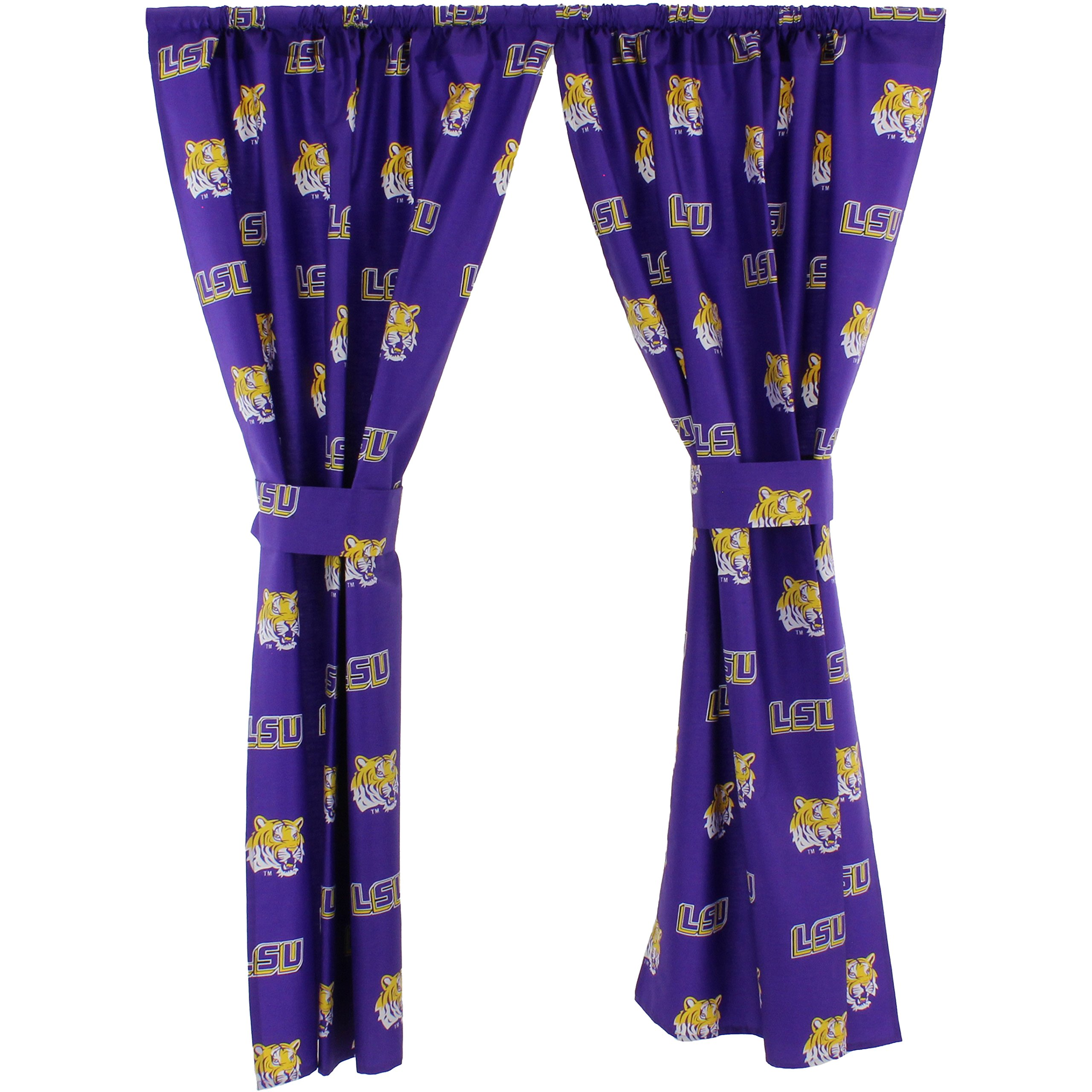 College Covers Louisiana State Tigers Printed Curtain Panels 42'' x 84'' by College Covers (Image #1)