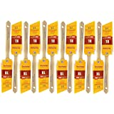 """12 PACK 1-1/2"""" Angle Sash PRO PERFECT PAINT BRUSH LOT. Includes 12 each 1-1/2"""" Angle Sash Brushes. These are NOT Purdy brushes but the greatest alternative at a HUGE discount!"""