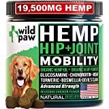 WILDPAW Organic Hemp Treats with Glucosamine for Dogs - Hip & Joint Support Supplement with Turmeric, Chondroitin, MSM, Hemp