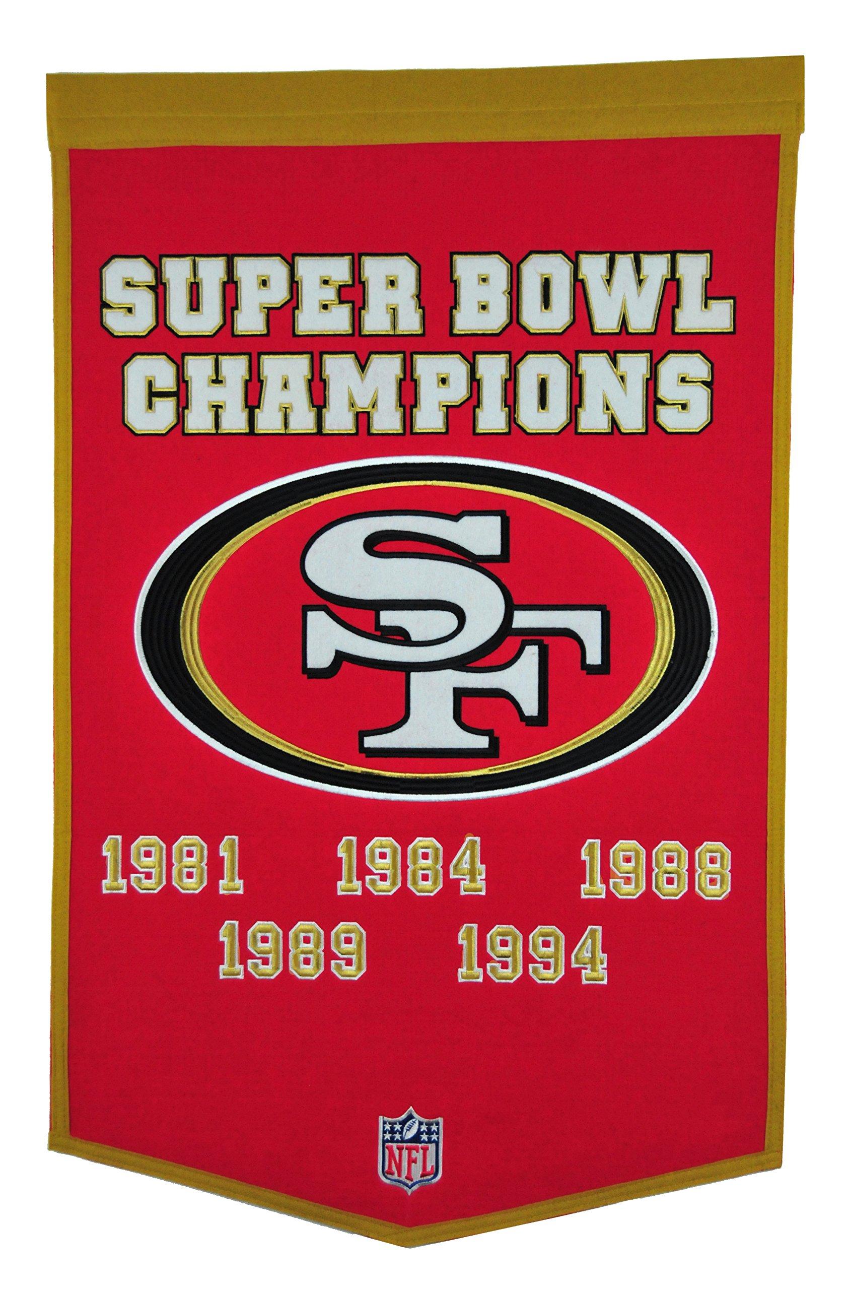 Winning Streak NFL San Francisco 49ers Dynasty Banner by Winning Streak