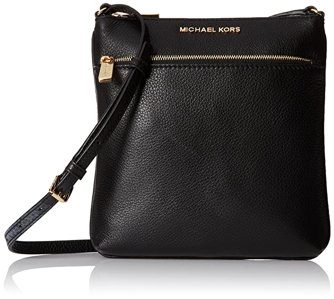 eeba118476f Michael Kors Riley Leather Flat Crossbody Black …  Michael Kors ...