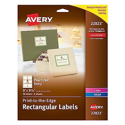 Amazon Avery 3 X 375 Inches Print To The Edge Rectangular