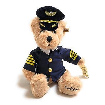 Suave Juguete Airline Pilot oso de peluche | pequeño (25 cm) | alta calidad | oso de peluche (Piloto: Amazon.es: Juguetes y juegos