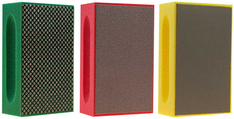 KGS PRO-PAD Diamond Hand Polishing pads grit 60, 120, 200, 400, 500, 1500, 3000 7 Pack, Combination set