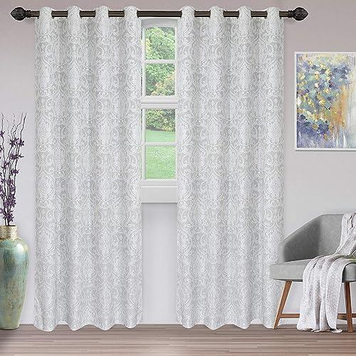 SUPERIOR Penniston Jacquard-Woven 2 Panel Curtain Set