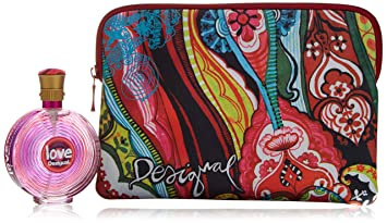 Amazon.com : Estuche Desigual Love 50 ml + Regalo Neceser ...