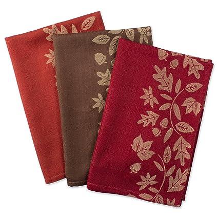 Bon DII Cotton Thanksgiving Holiday Dish Towels, 18x28u0026quot; Set Of 2,  Decorative Oversized Jacquard