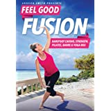Jessica Smith Feel Good Fusion: Barefoot Cardio, Strength, Pilates, Barre and Yoga Mix DVD, Fat Burning, Sculpting, Toning Lo