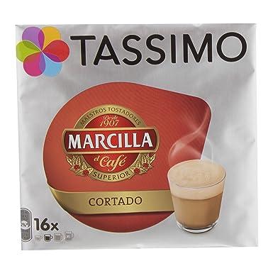 Cápsulas Tassimo Marcilla - Cortado - 80 Bebidas: Amazon.es: Alimentación y bebidas