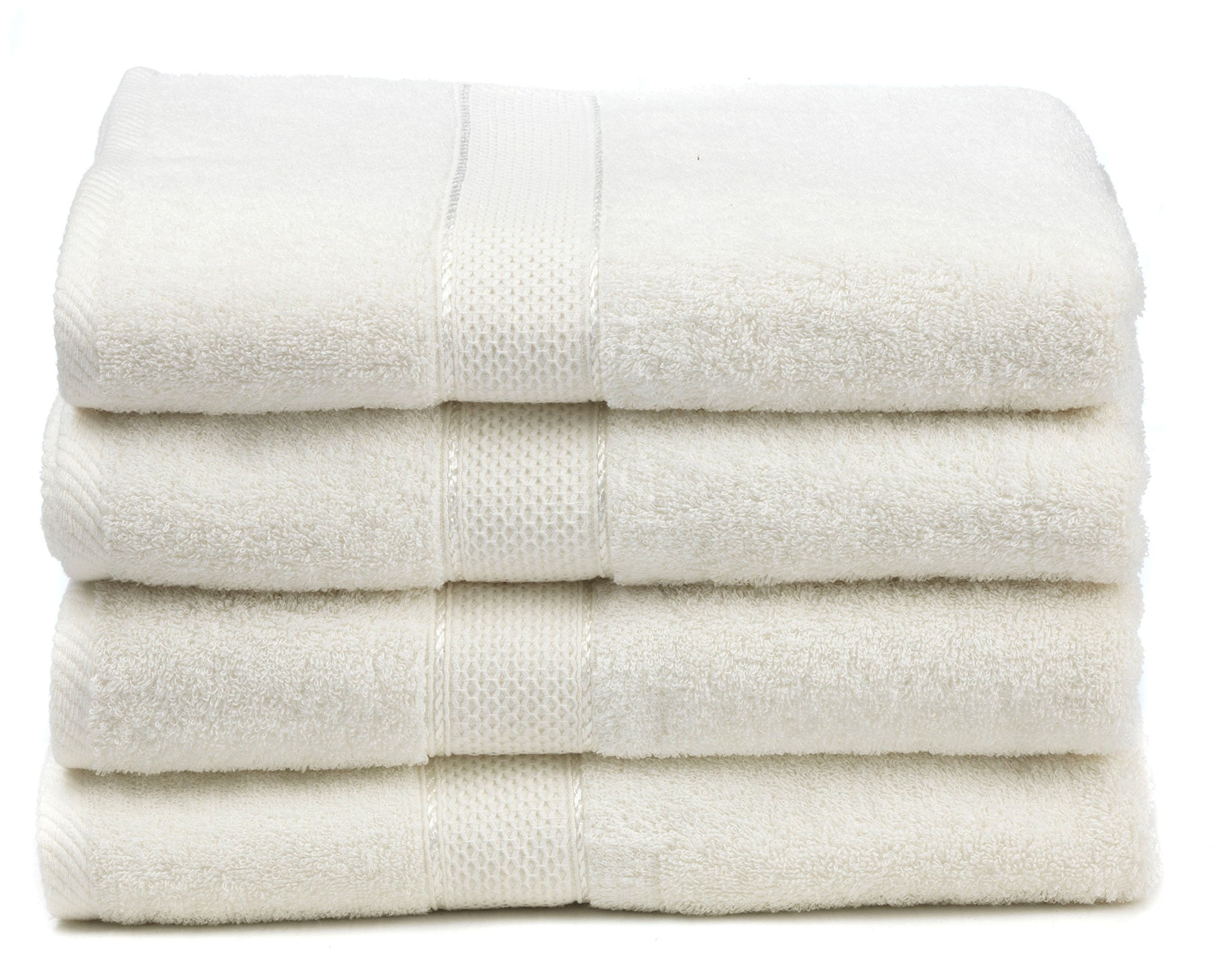 Ariv Collection Premium Bamboo Cotton Bath Towels – Natural, Ultra Absorbent and Eco-Friendly 30″ X 52″ (Duck Egg)
