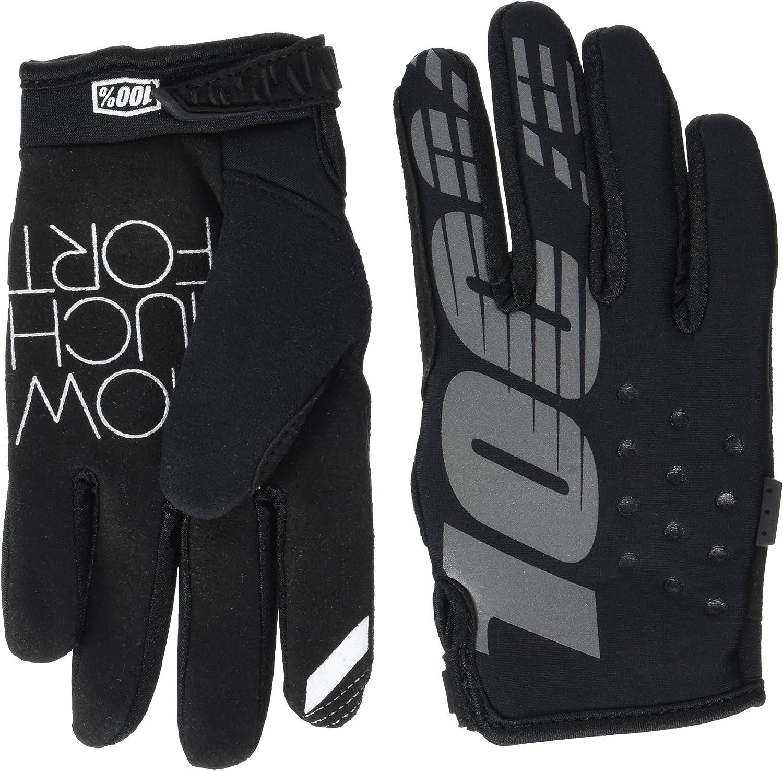 100/% Unisex-Adult Brisker MX Motocross Gloves Orange,X-Large