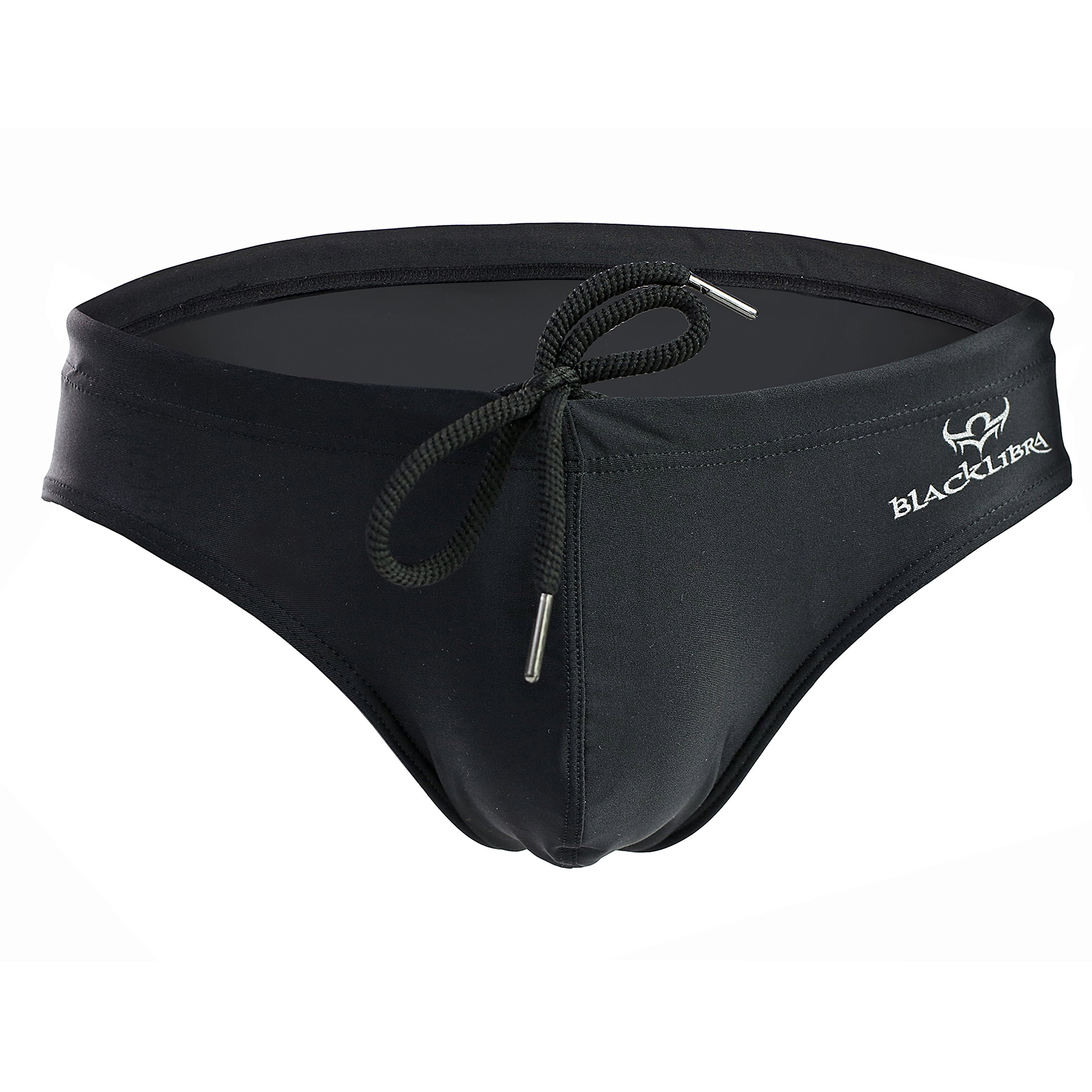 Beuniclo Men Swim Brief Summer Watersports Men Bikini Underwear (M, Black)