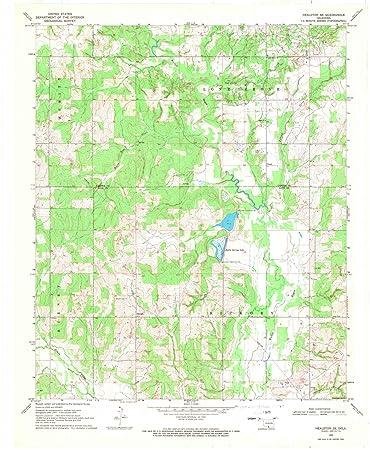 Topographic Map Oklahoma.Amazon Com Oklahoma Maps 1969 Healdton Ok Usgs Historical
