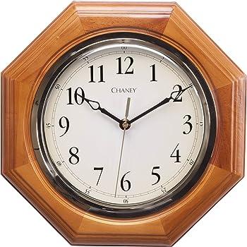 Amazon Com Seiko Wall Clock Medium Brown Solid Oak Case