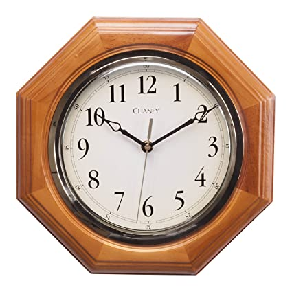 vibrant idea 30 inch clock. Chaney 46101A1 12 inch Octagon Wood Clock Amazon com  Home Kitchen