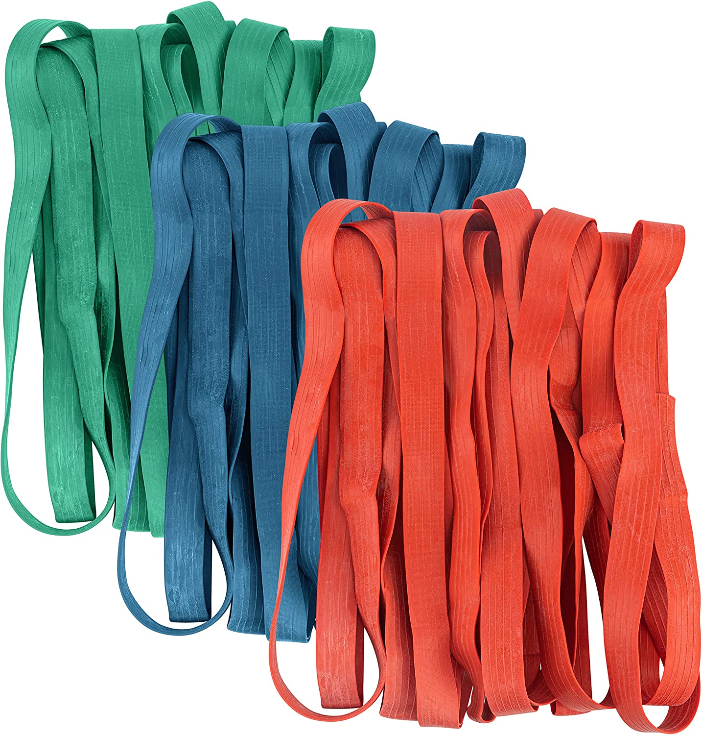 24 Pack Mover Bands - Extra Large Rubber Bands for Moving Blankets and Furniture - Variety of Sizes 26in, 30in & 42in - 24 Moving Bands Total - kitchentoolz