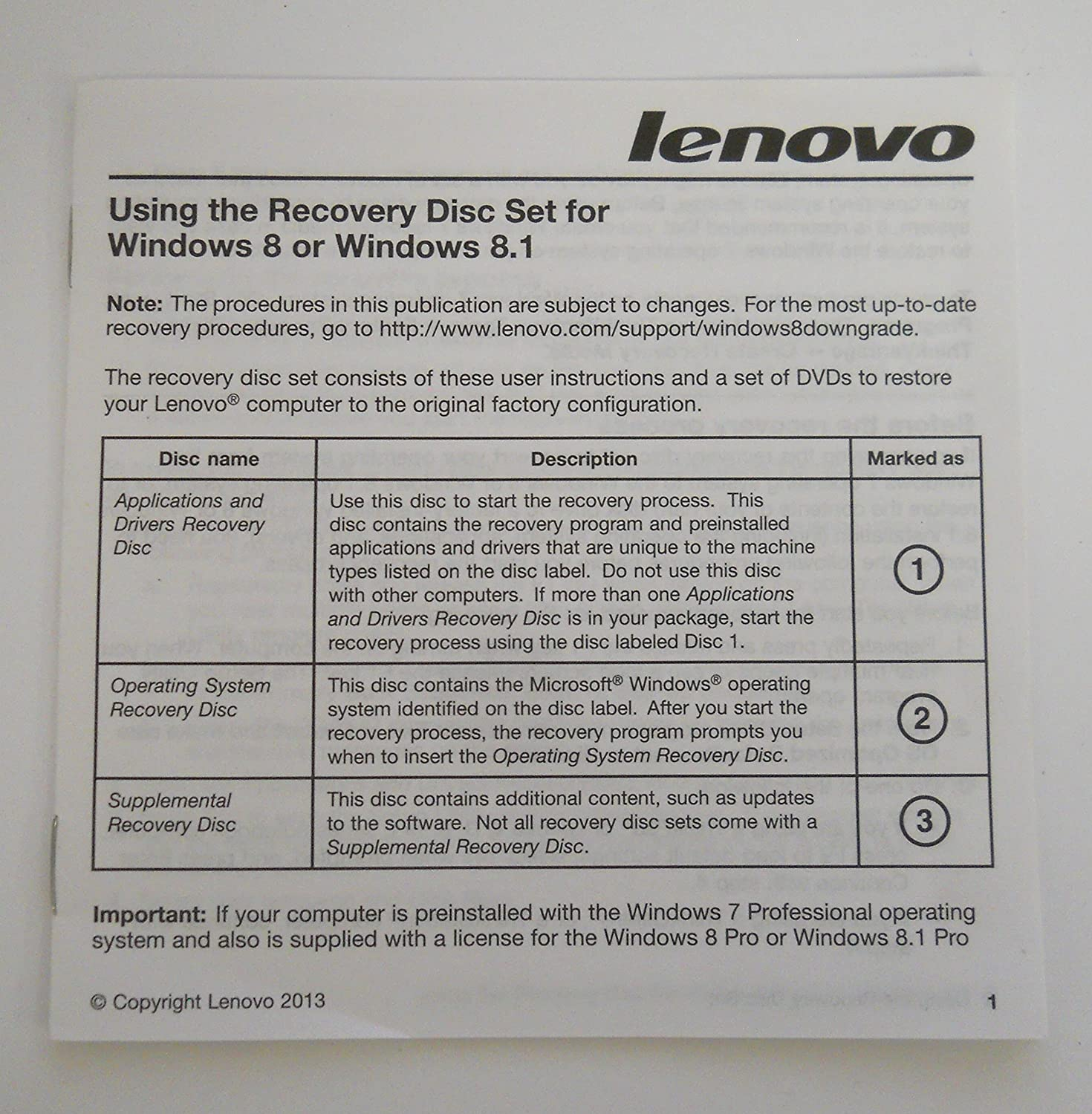Lenovo Windows 8 Operating System and Applications and Drivers Recovery  Disc Sets for ThinkCentre M73 Type 10B4,10AX, 10B1
