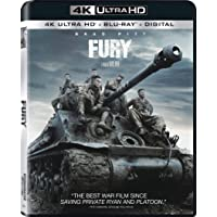 Fury (Uncut) [4K Ultra HD/Blu-ray] (2014) | Imported from USA | 135 min | Sony Pictures | Action Drama War Dolby Atmos | Director: David Ayer | Stars: Brad Pitt, Shia LaBeouf, Logan Lerman