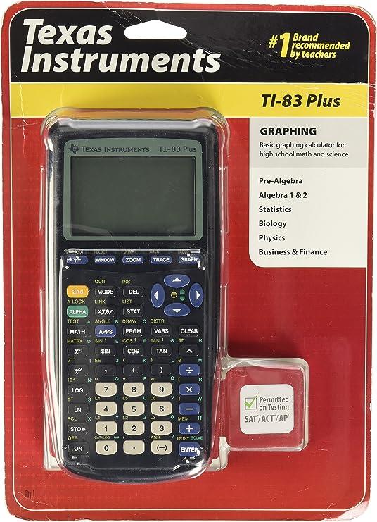 Texas Instruments TI-83PLUS - Calculadora gráfica (archivo hasta 160 KB), gris: Amazon.es: Oficina y papelería