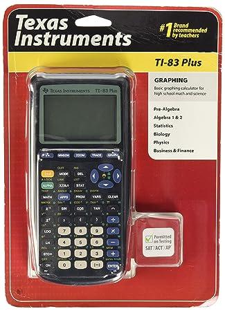 Amazon Com Texas Instruments Ti 83 Plus Graphing Calculator Texas