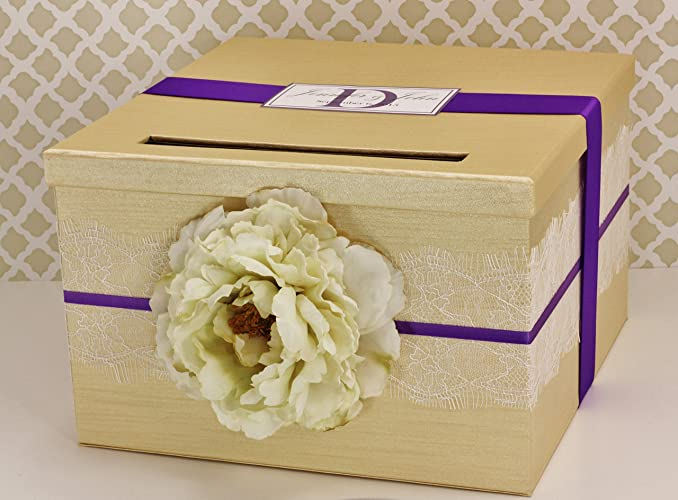 Amazon Wedding Card Box Money Holder Champagne Gold and – Purple Wedding Card Box