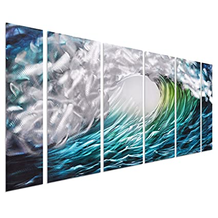 Amazon.com: Pure Art The Great Wave off Kanagawa, Sea Storm Metal ...