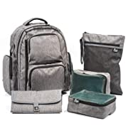 Large Capacity Diaper Backpack with YKK Zippers, Two Packing Cubes, and More