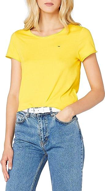 Tommy Hilfiger Soft Jersey Camiseta, Amarillo (Dandelion 706), X-Large para Mujer: Amazon.es: Ropa y accesorios