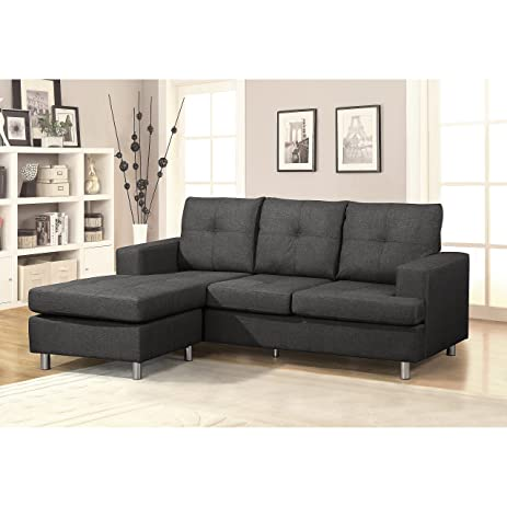 Amazon US Pride Furniture Modern Reversible Chaise Sectional