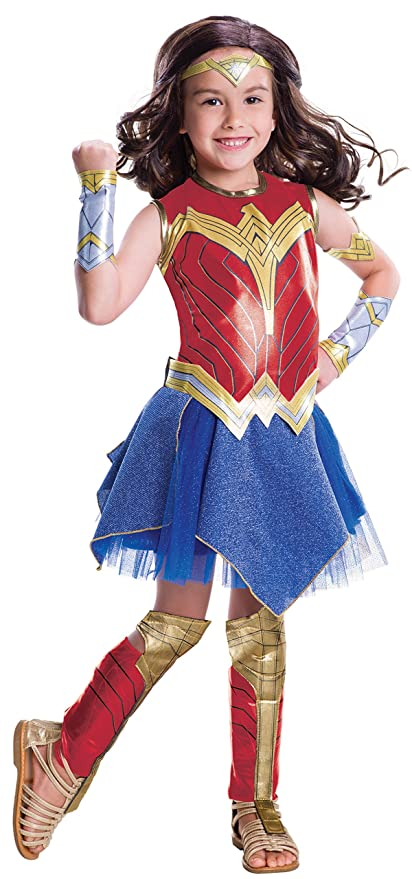 Amazon Com Wonder Woman Movie Child S Deluxe Costume Medium Toys