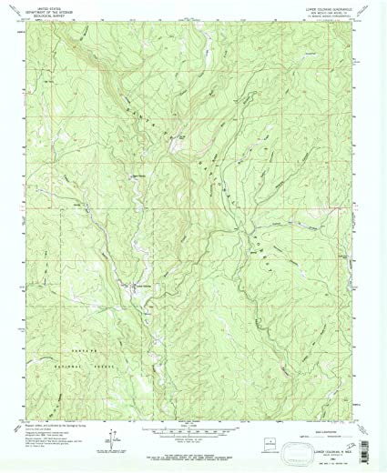 New Mexico Maps | 1961 Lower Colonias, NM USGS Historical Topographic Map |Fine Art