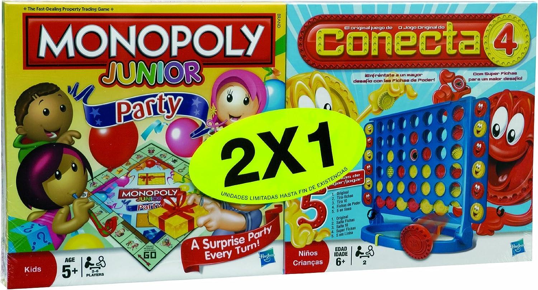 Hasbro Juegos en Familia Monopoly Junior + Conecta 4 98886500: Amazon.es: Juguetes y juegos