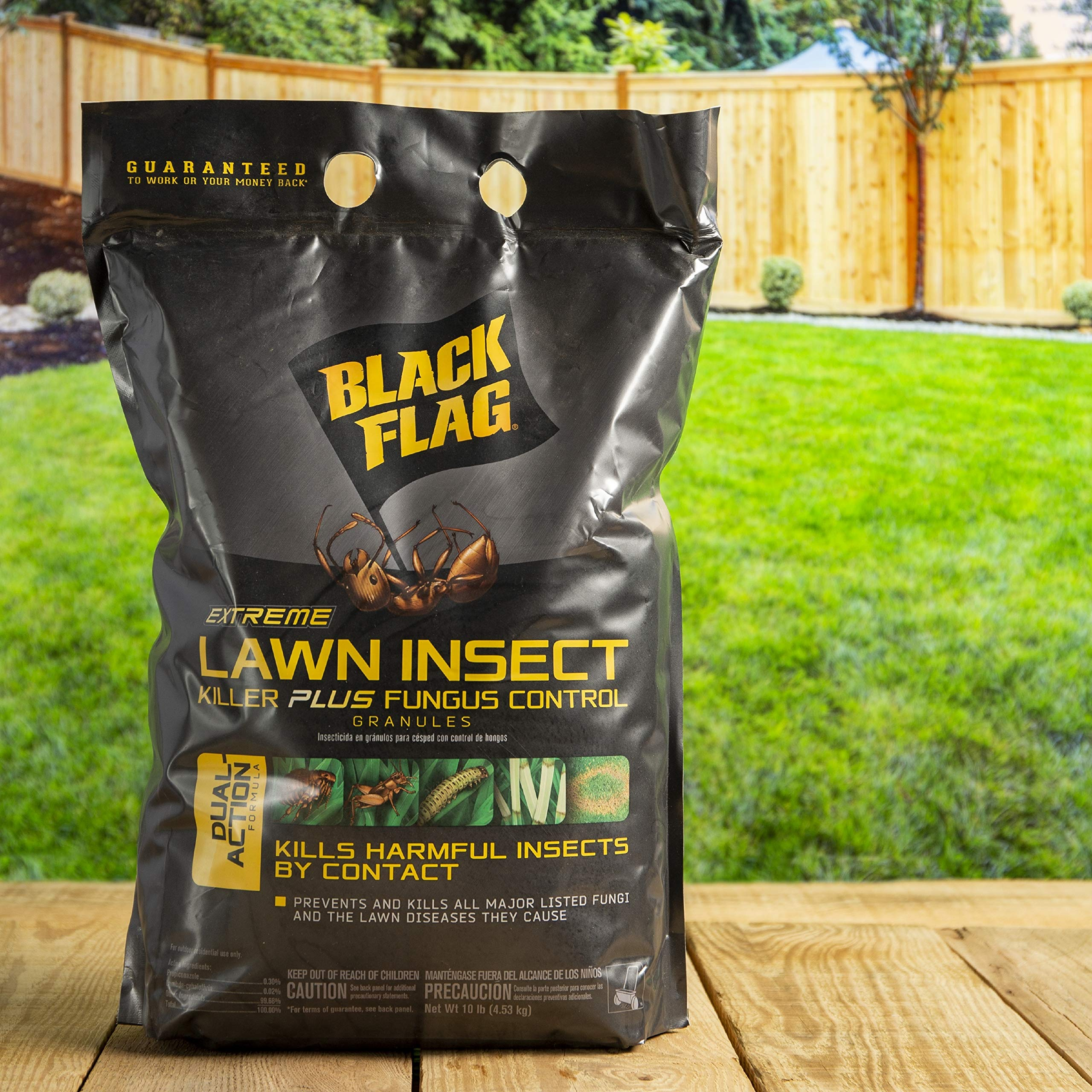 Black Flag Extreme Lawn Insect Killer + Fungus Control Granules, 10-Pound, 4-Pack by Black Flag