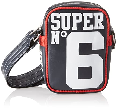 Superdry - Super 6 Festival, Mochilas Hombre, Blu (Navy/optic),