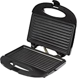 Solimo Non-Stick Grill Sandwich Maker (750 watt, Black)