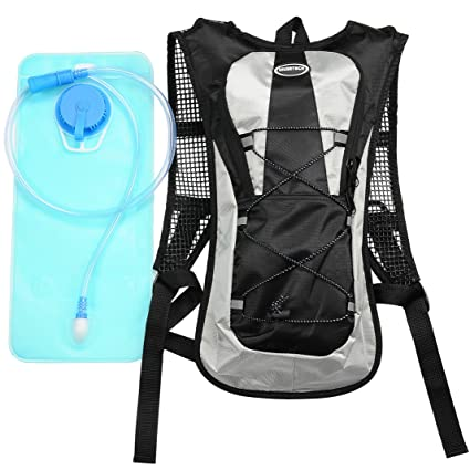 3acf1f5f96e3 Hydration Pack with 2L Backpack Water Bladder for Hiking Running Biking  Color Black