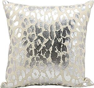 "Kathy Ireland Worldwide Kathy Ireland A3245 Silver Decorative Pillow by Nourison, 18"" X 18"""