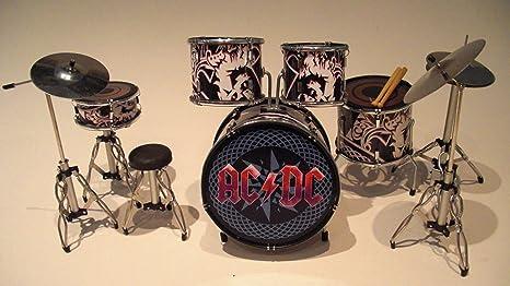 Rock Guitar Miniatures rgm301 AC DC Miniatura Drumkit Negro/Rojo Brian Johnson Malcolm Young Phil