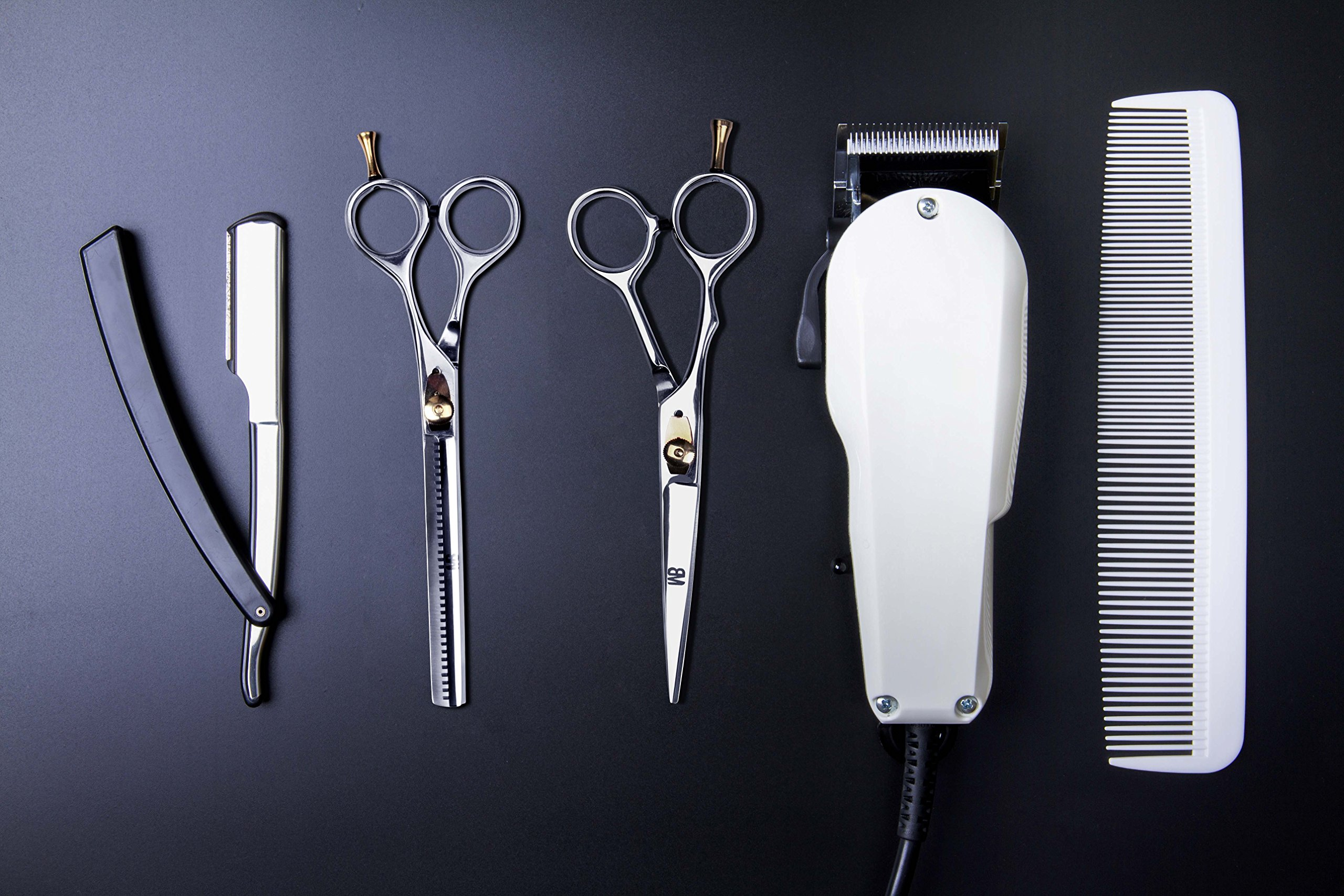 Professional Barber Scissor 6.5 Inch Razor Edge Blade Rust Free Stainless Steel Chrome Plated Shears For Smooth Cutting - Easy Grip Hairdressing Cosmetic Scissors by MB (Image #7)