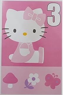 Hello Kitty Happy 3rd Birthday Greeting Card
