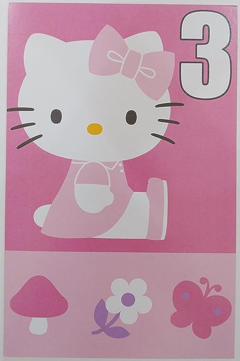 Hello Kitty Happy 3rd Tarjeta de felicitación de cumpleaños ...