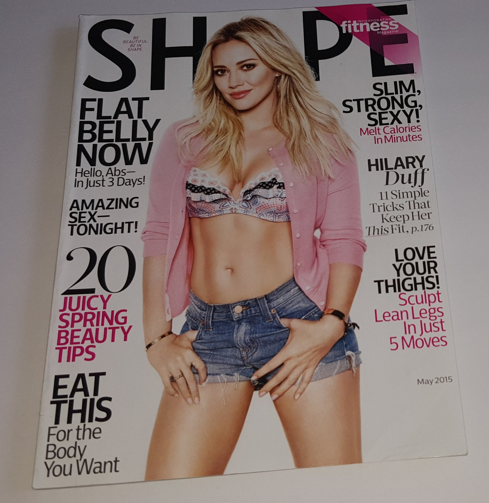 63f7efcdc1276 Shape May 2015 Hilary Duff 11 Simple Tricks That Keep Her This Fit Single  Issue Magazine – 2015