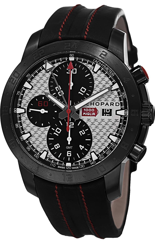 Chopard - Reloj suizo de acero inoxidable automático y cuero casual, Color negro (modelo: 168550-3004 LBK): Chopard: Amazon.es: Relojes