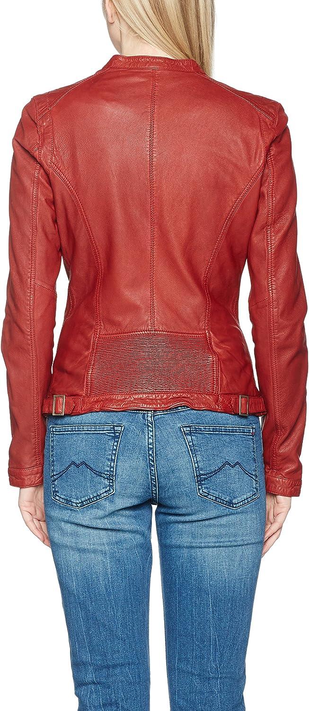 Mustang Leather Damen Joana Jacke Rot (Red 2000)