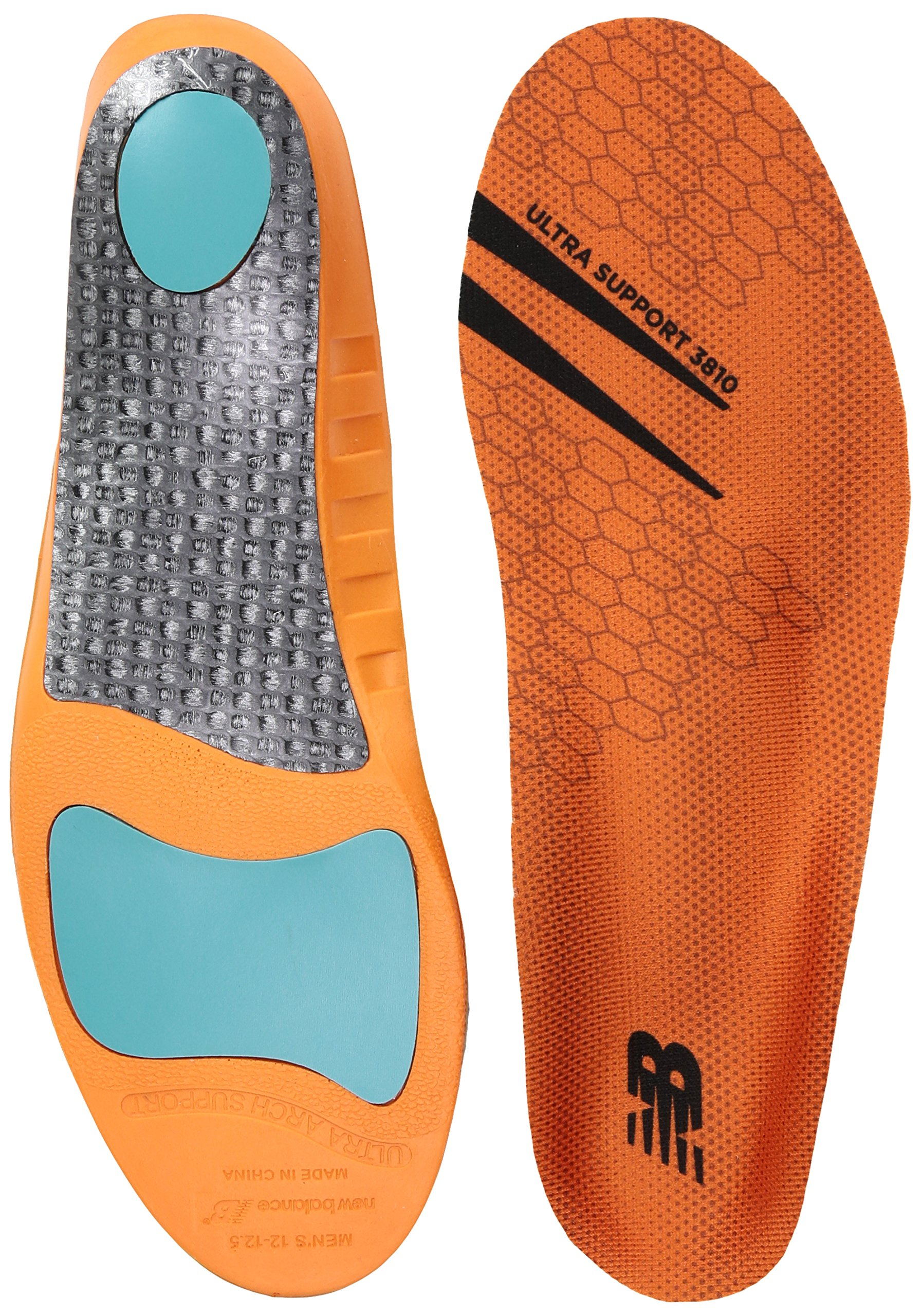 New Balance Insoles 3810 Ultra Support Shoe Insoles, Orange, Medium/M 11-11.5, W 12.5 D US