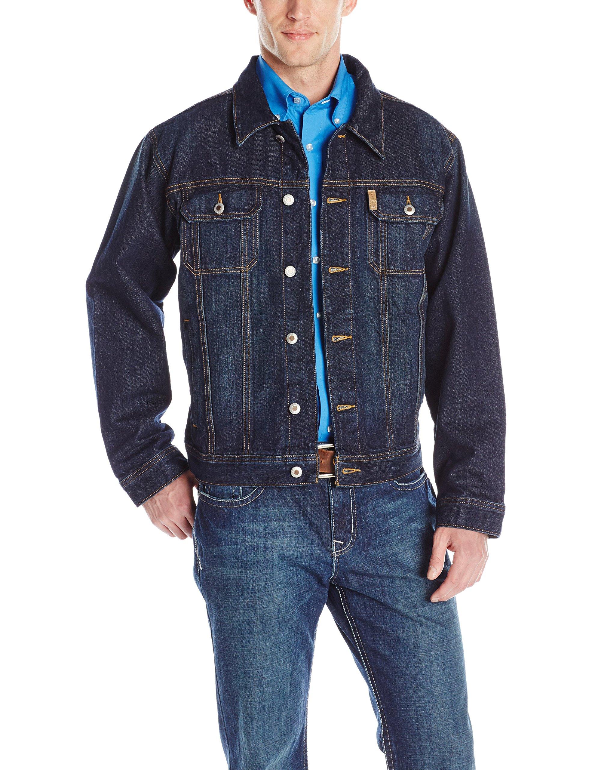 Cinch Men's Dark Stonewash Denim Jacket, Indigo, Medium by Cinch