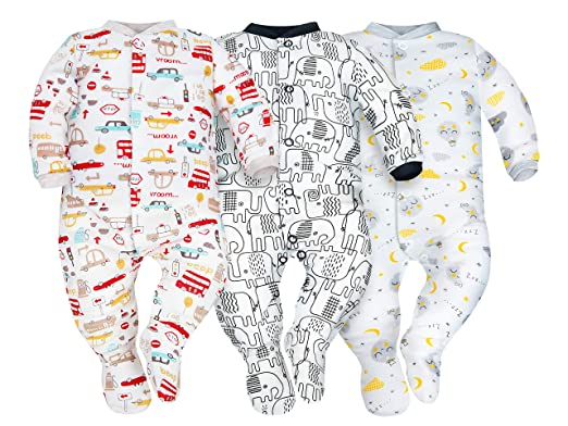 SIBINULO Niño Niña Pijama Bebé Pelele de ABS -Tamaños 80-92 - Pack ...