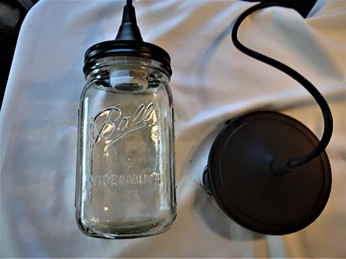 HunterCustomDesigns Mason Jar Pendant Light (oil Rubbed Bronze)