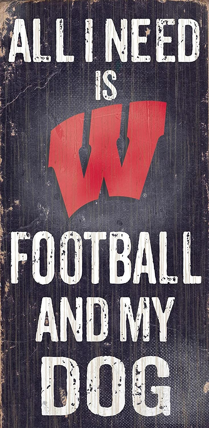 Fan Creations C0640 University of Wisconsin Football and My Dog Sign